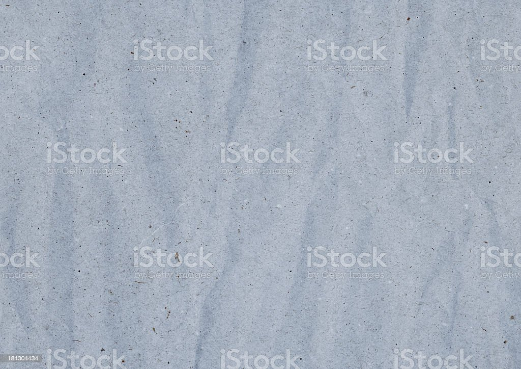 Hi-Res Old Coarse Crumpled Powder Blue Recycled Paper Grunge Texture royalty-free stock photo