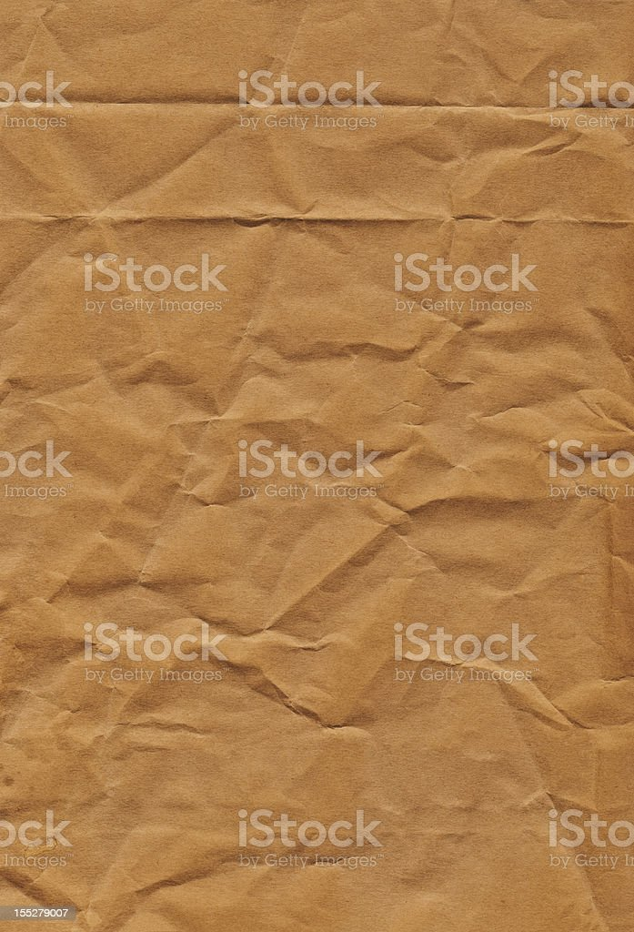 Hi-Res Old Recycle Brown Kraft Paper Bag Crumpled Grunge Texture stock photo