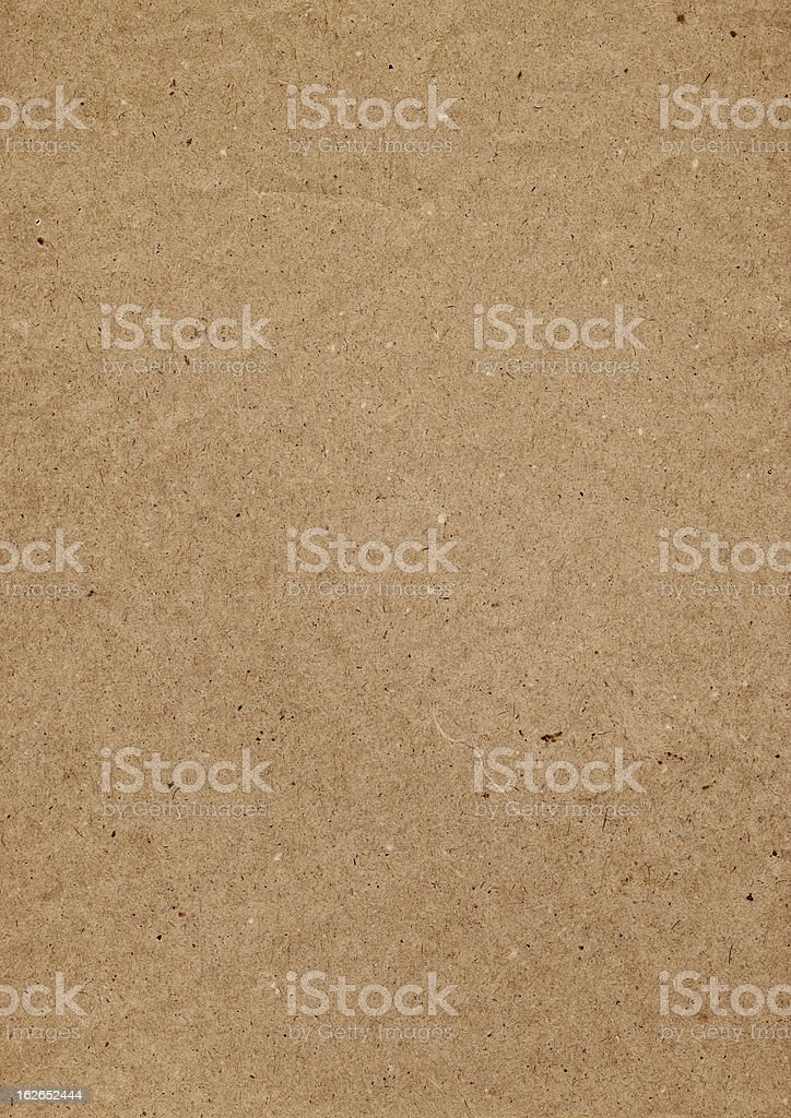 Hi-Res Old Recycle Brown Kraft Paper Painted Grunge Texture royalty-free stock photo
