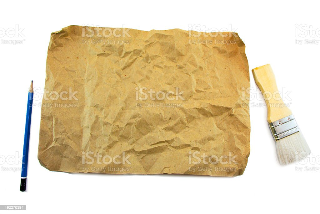 Hi-Res Old Recycle Brown Kraft Paper stock photo