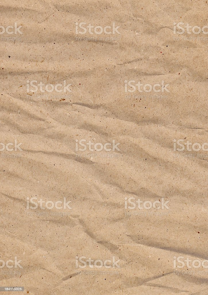 Hi-Res Old Recycle Kraft Brown Paper Crushed Crumpled Grunge Texture royalty-free stock photo
