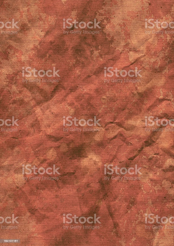 Hi-Res Old Recycle Striped Kraft Paper Wrinkled Motttled Grunge Texture royalty-free stock photo