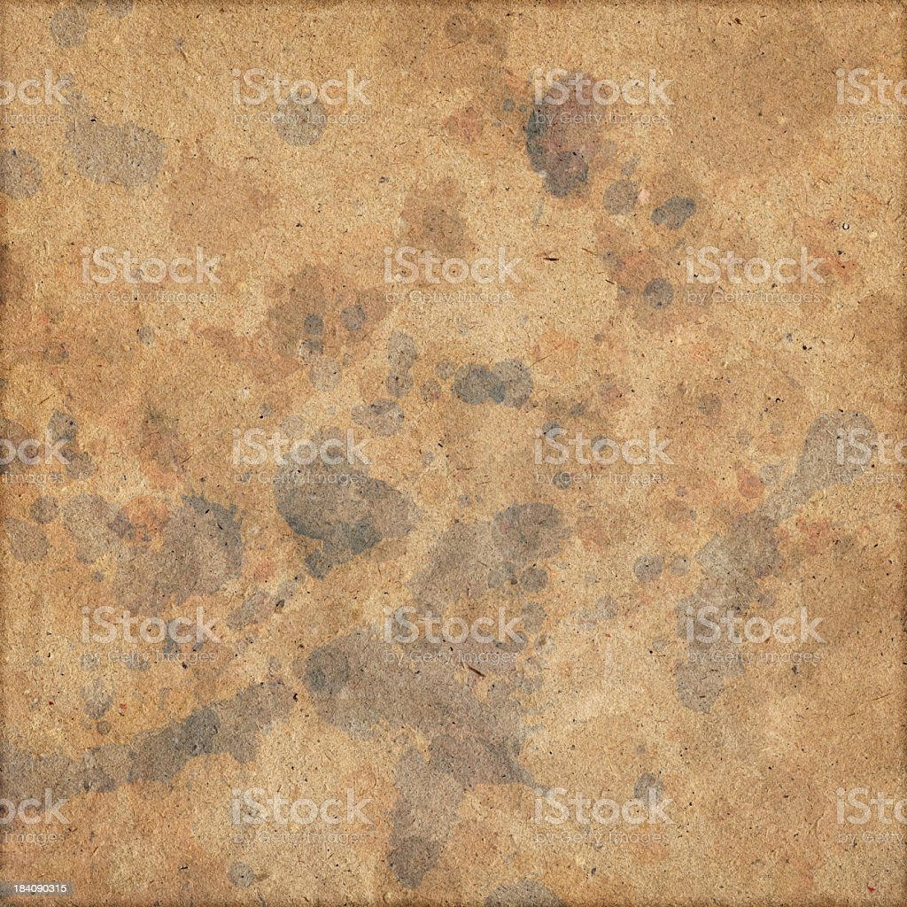 Hi-Res Old Recycled Brown Kraft Paper Inks Blotted Grunge Texture royalty-free stock photo