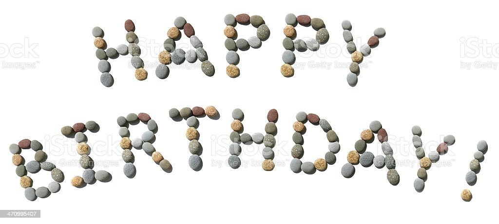 Hi-res phrase HAPPY BIRTHDAY!!! royalty-free stock photo
