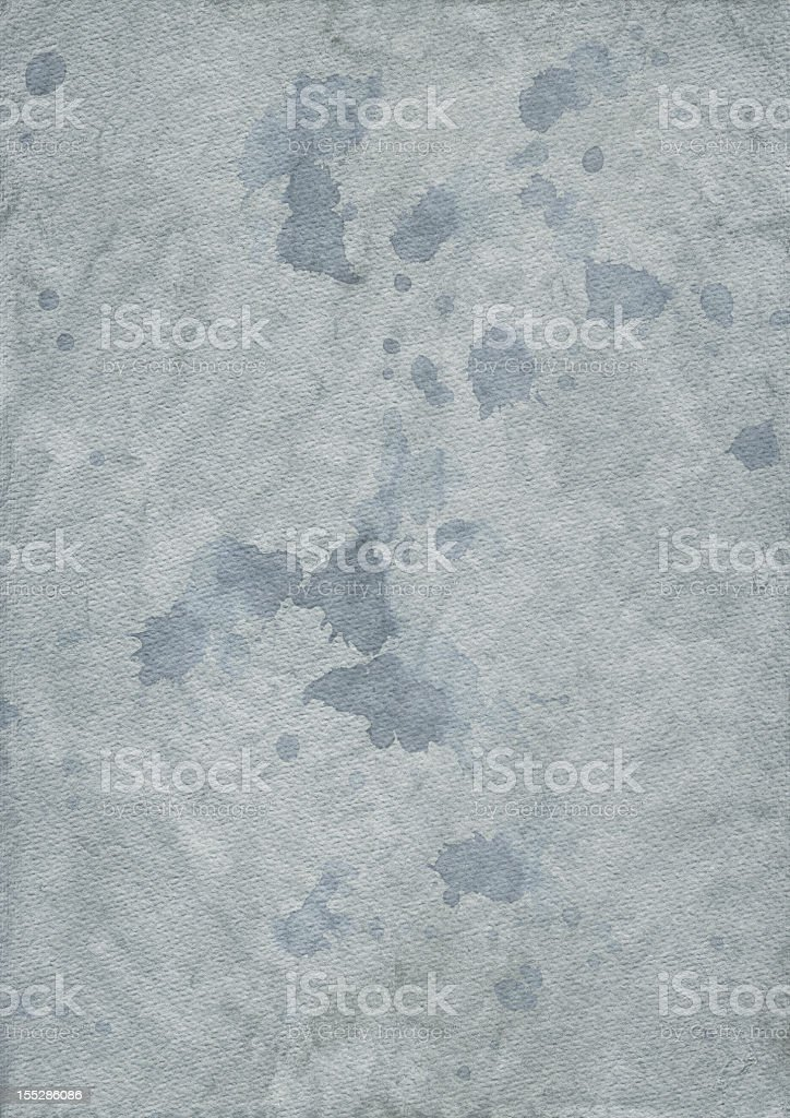 Hi-Res Powder Blue Crumpled Inkblotted Watercolor Paper Grunge Texture stock photo
