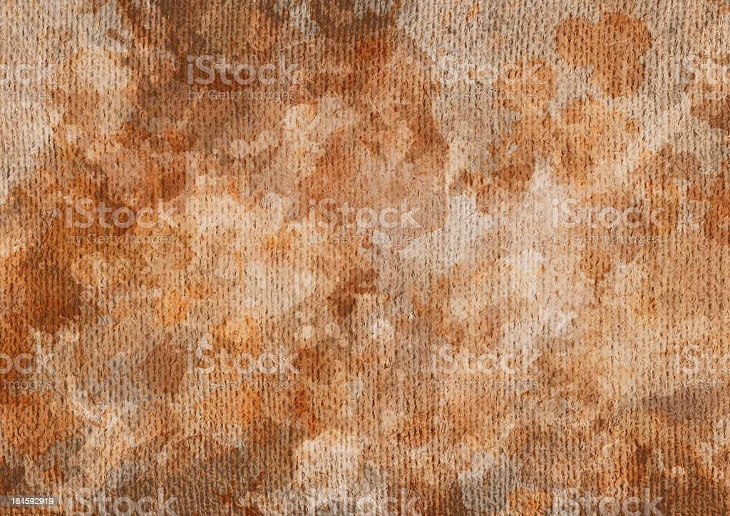 Hi-Res Primed Coarse Burlap Canvas Blotted Dappled Grunge Texture royalty-free stock photo