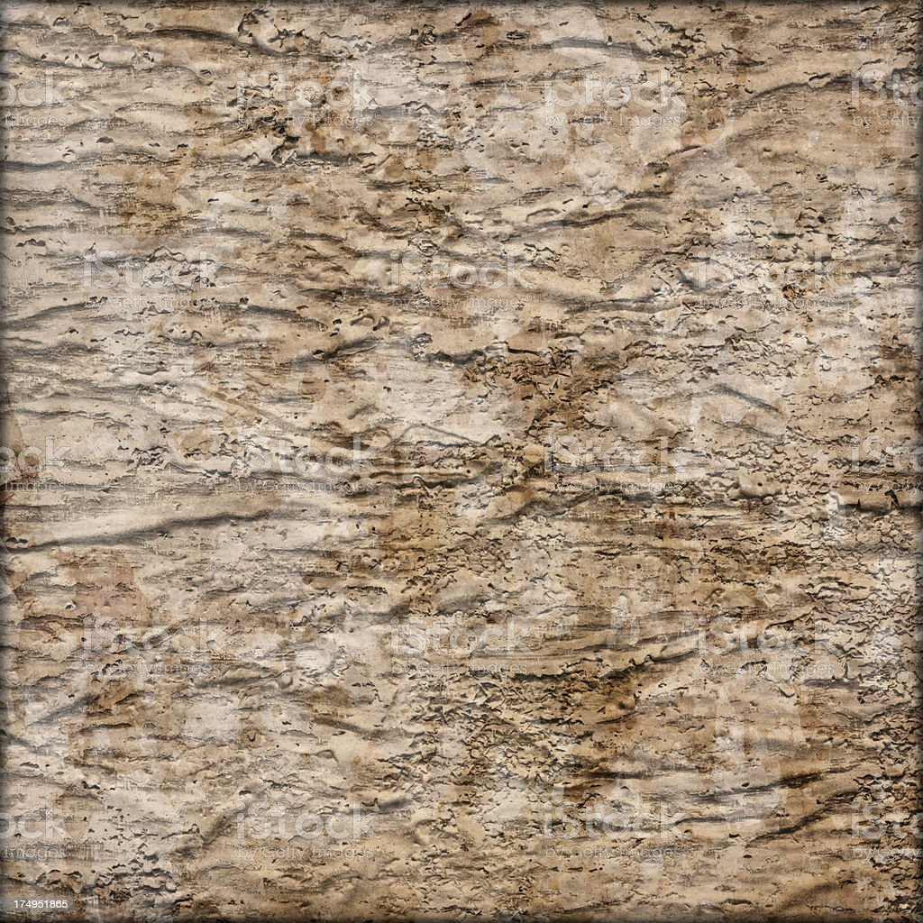 Hi-Res Primed Jute Canvas Crushed Peeled Mottled Vignette Grunge Texture stock photo