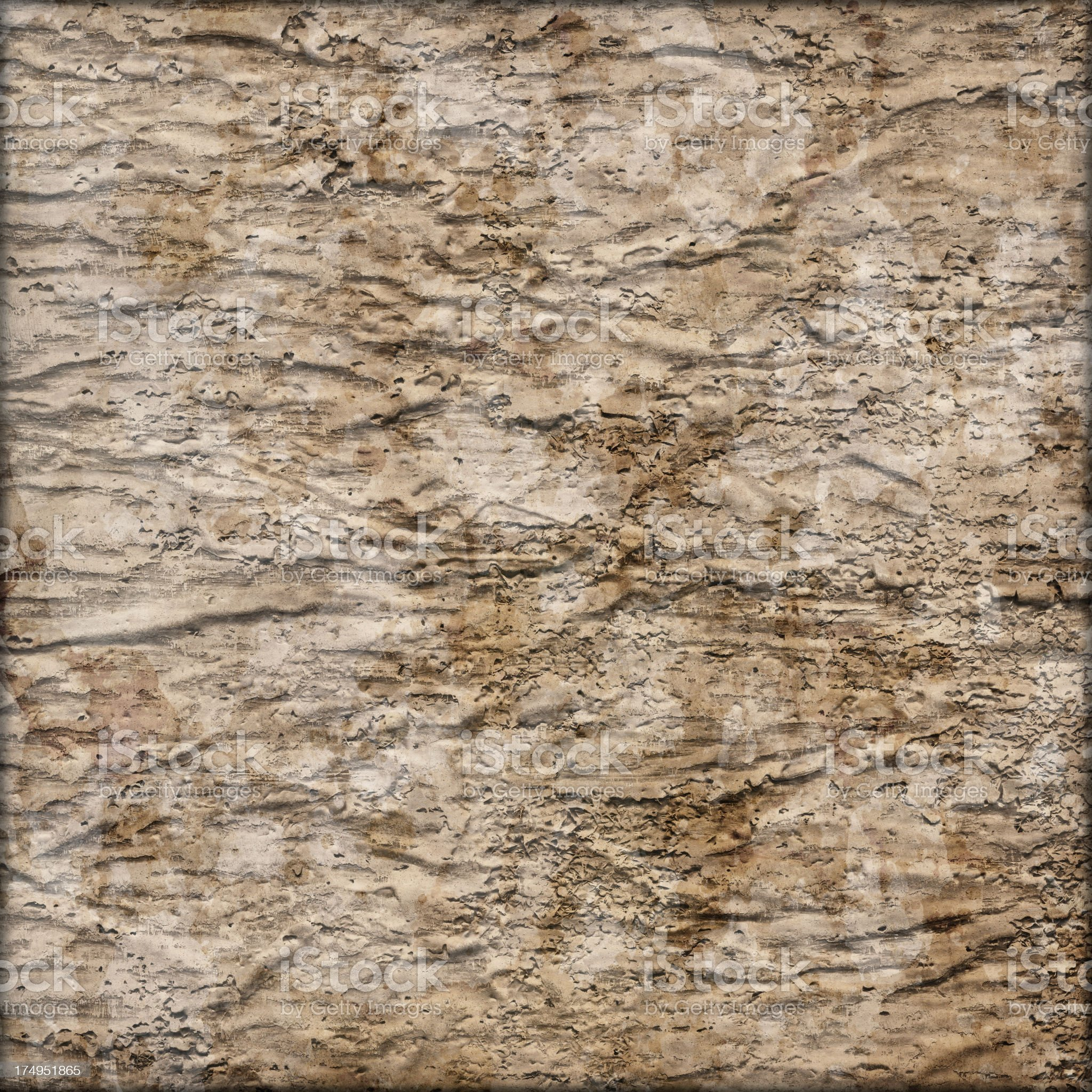 Hi-Res Primed Jute Canvas Crushed Peeled Mottled Vignette Grunge Texture royalty-free stock photo