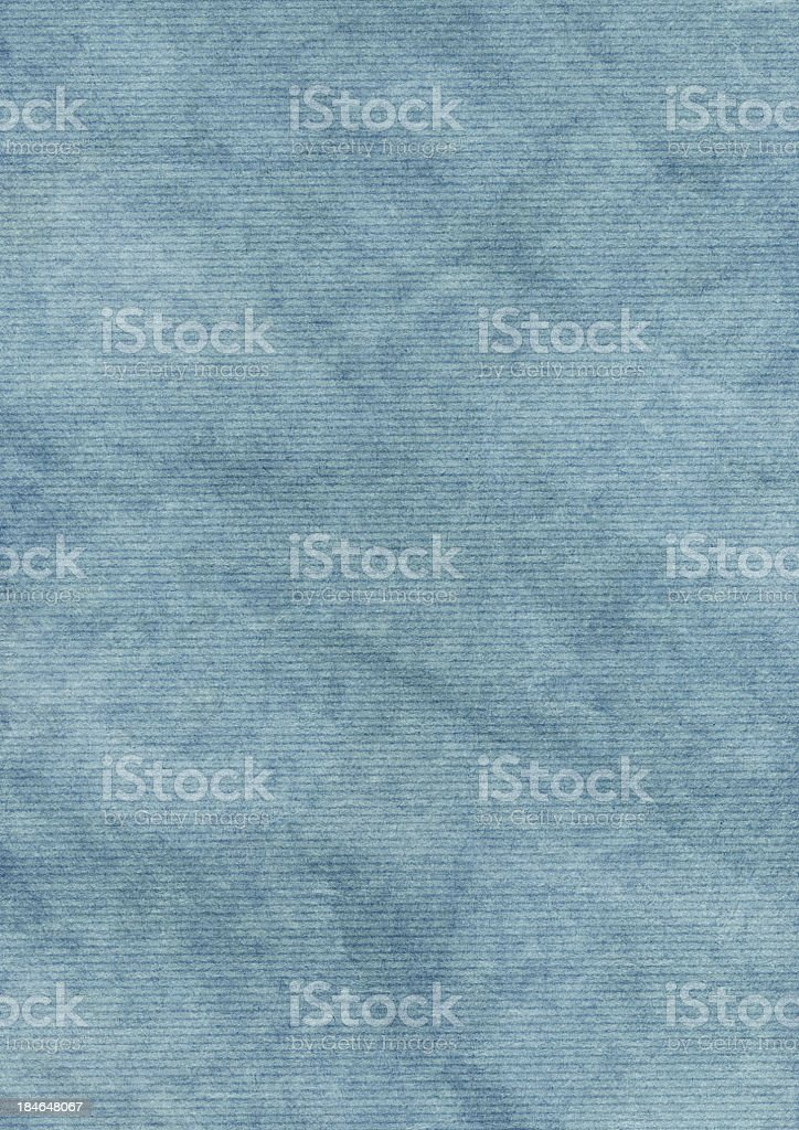 Hi-Res Recycle Blue Striped Wrapping Paper Crumpled Grunge Texture royalty-free stock photo