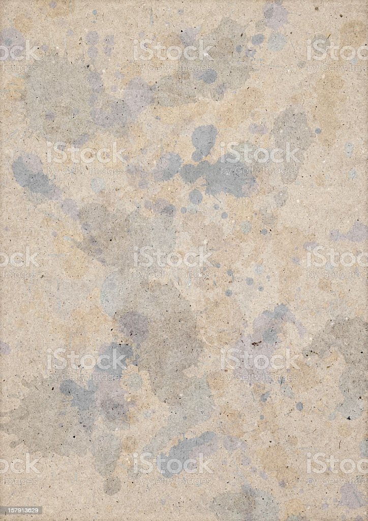 Hi-Res Recycled Brown Kraft Paper Inks Blotted Dappled Grunge Texture royalty-free stock photo
