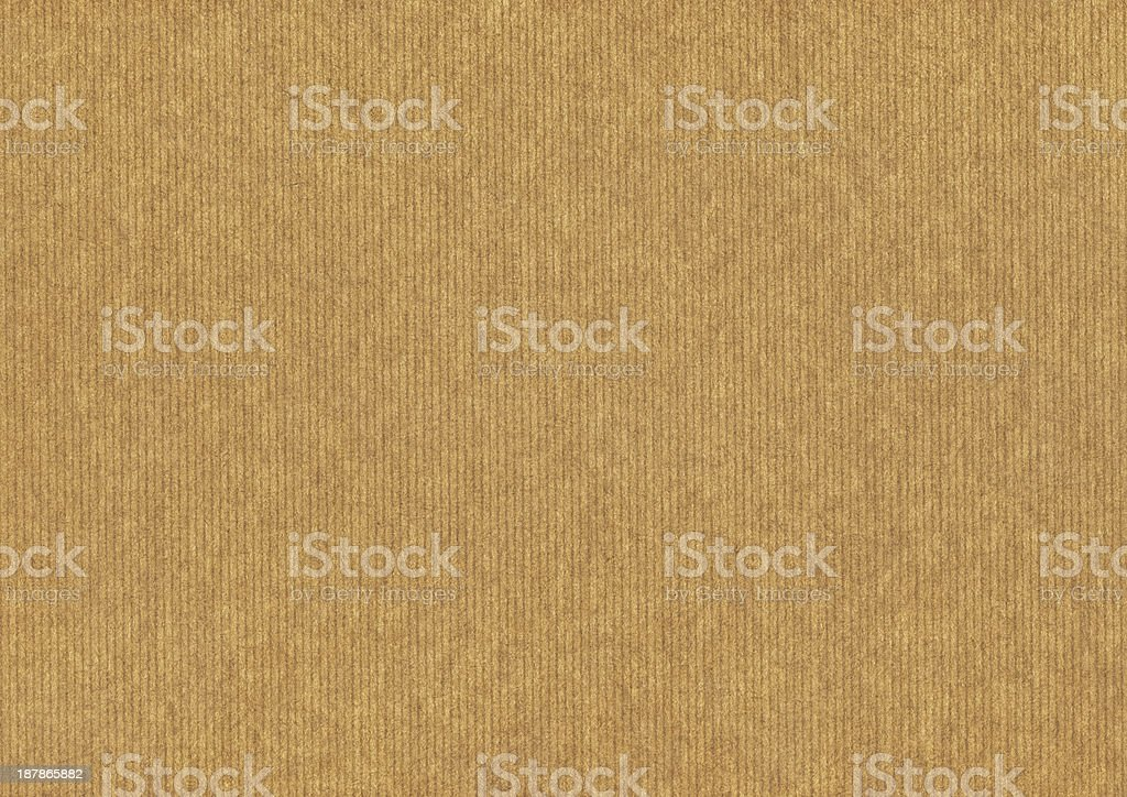 Hi-Res Recycled Striped Brown Kraft Paper Grunge Texture royalty-free stock photo