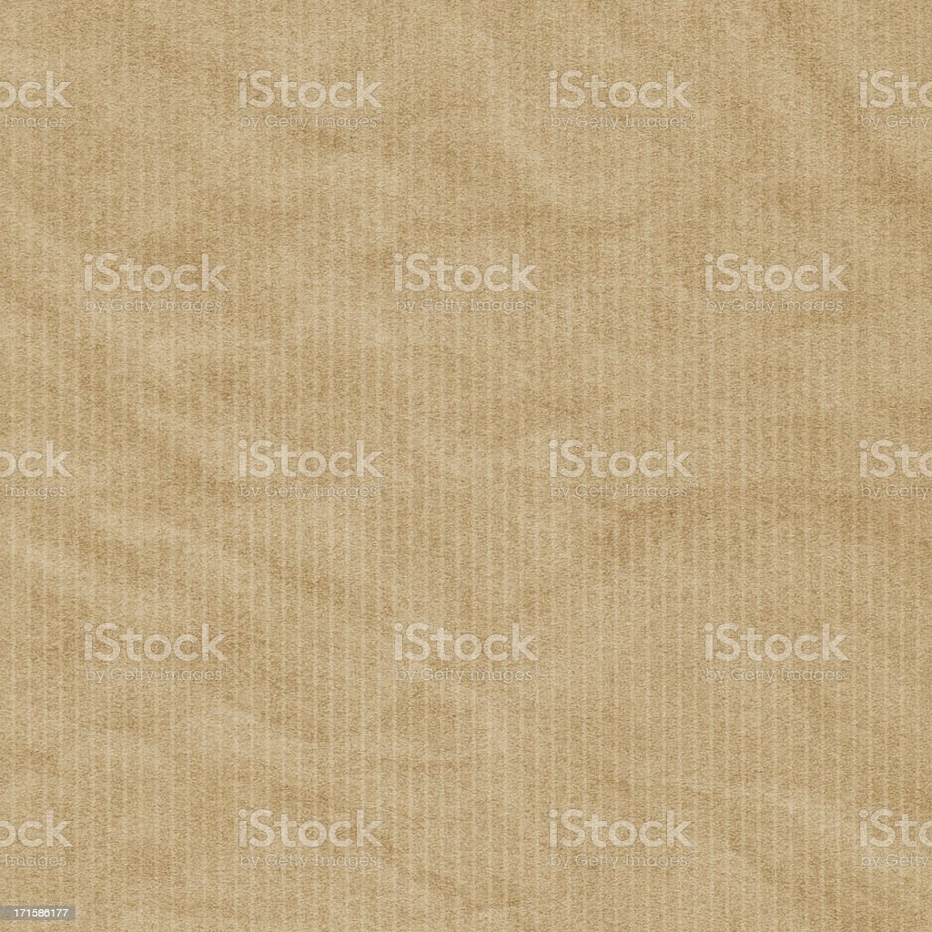Hi-Res Recycled Striped Brown Kraft Wrapping Paper Crumpled Grunge Texture royalty-free stock photo