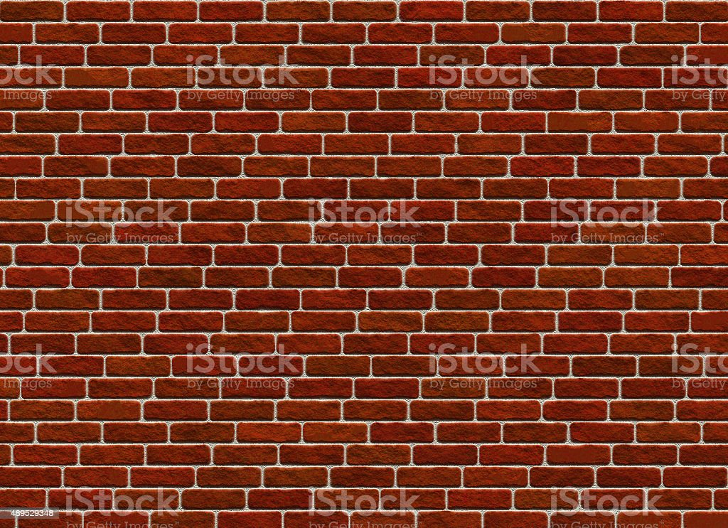 hi-res red small brick wall pattern stock photo