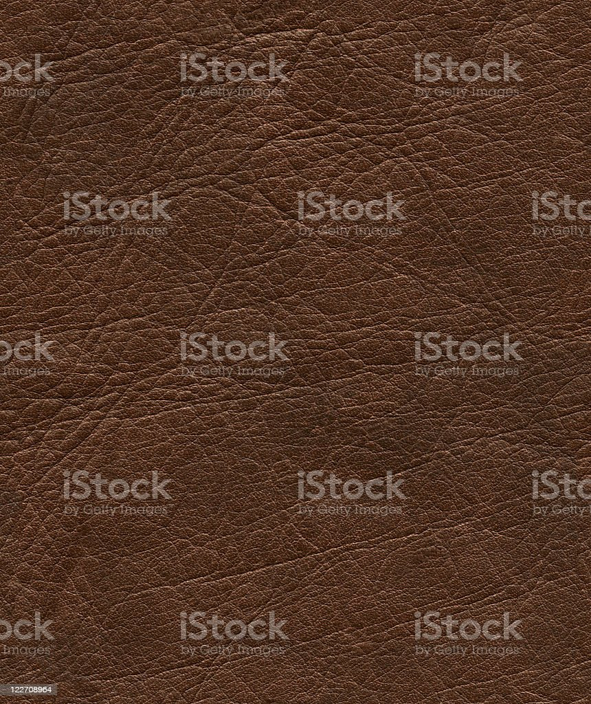 Hi-res seamless brown leather background royalty-free stock photo