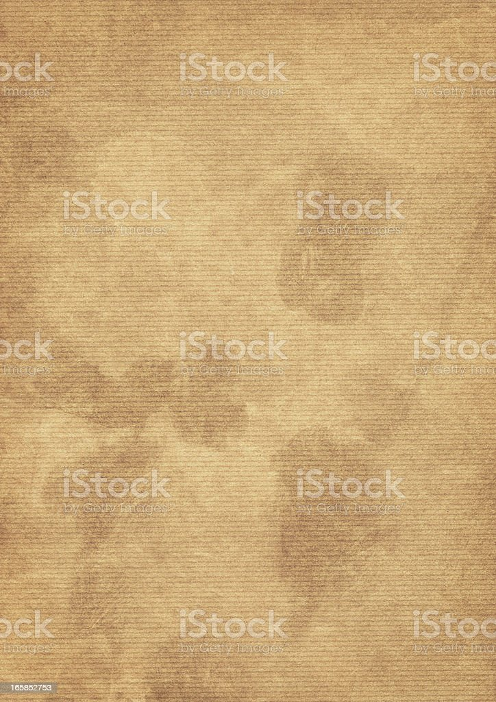 Hi-Res Striped Brown Kraft Paper Inks Blotted Dappled Grunge Texture royalty-free stock photo