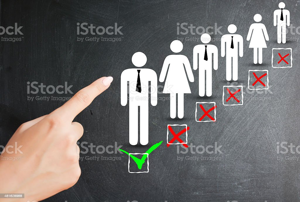 Hiring a new employee or recruitment process stock photo