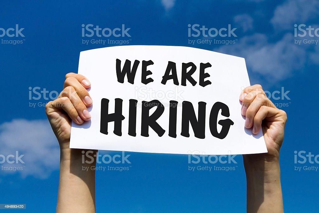 hiring concept stock photo
