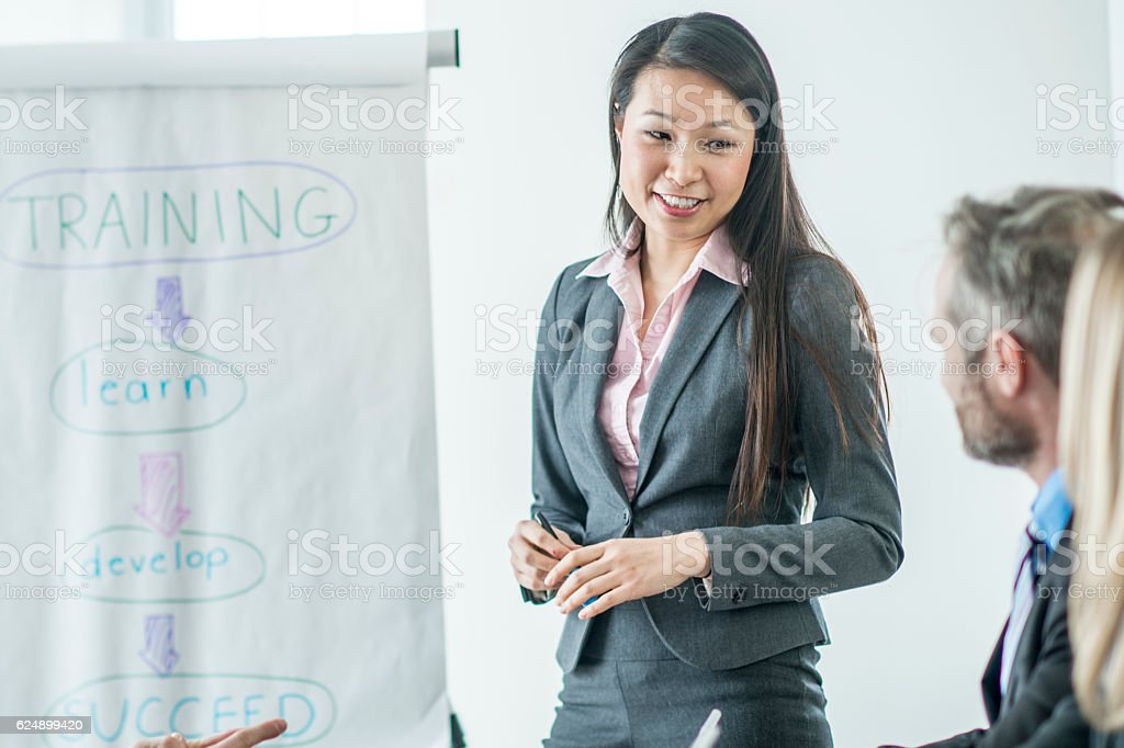 Hiring New Interns at a Corporate Office stock photo