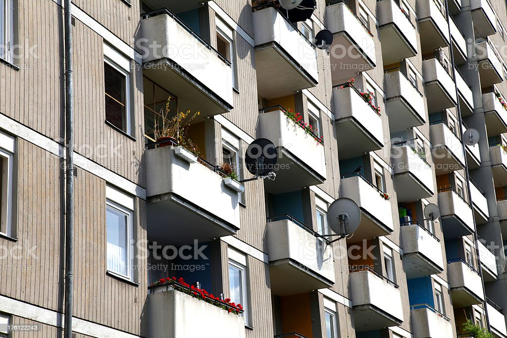 Hirise flats stock photo