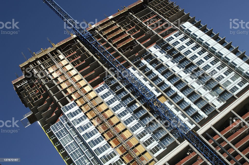 Hi-Rise Under Construction royalty-free stock photo