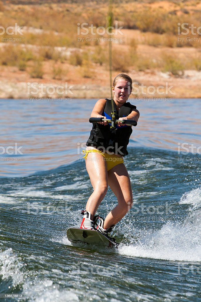 Hirl Wakeboarder at Lake Powell royalty-free stock photo