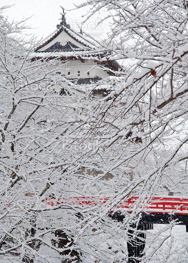 Hirosaki castle stock photo