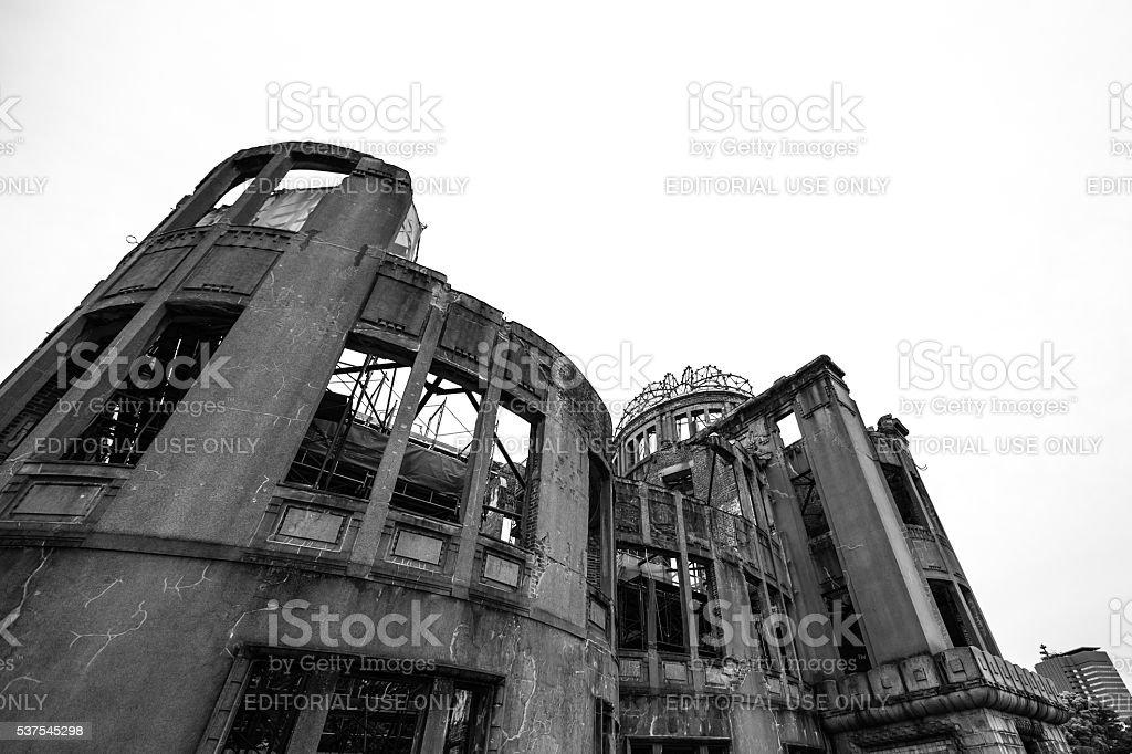 Hiroshima Atom Bomb Dome memorial in Japan stock photo