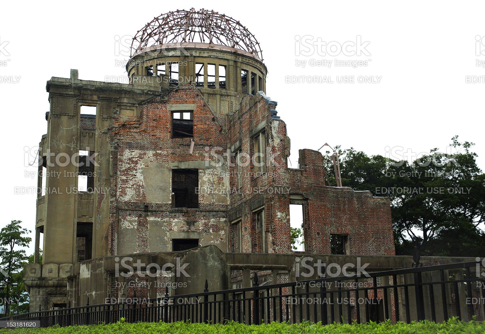 Hiroshima Atomic Bomb Dome (Gembaku Domu) royalty-free stock photo