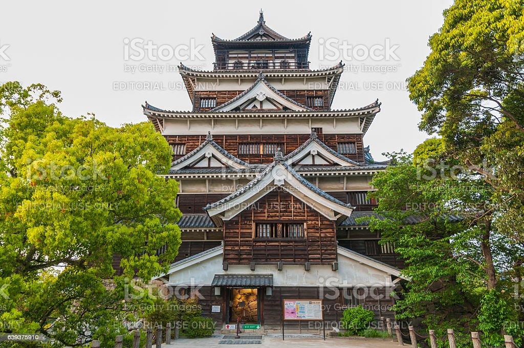 Hiroshima Castle,Japan stock photo