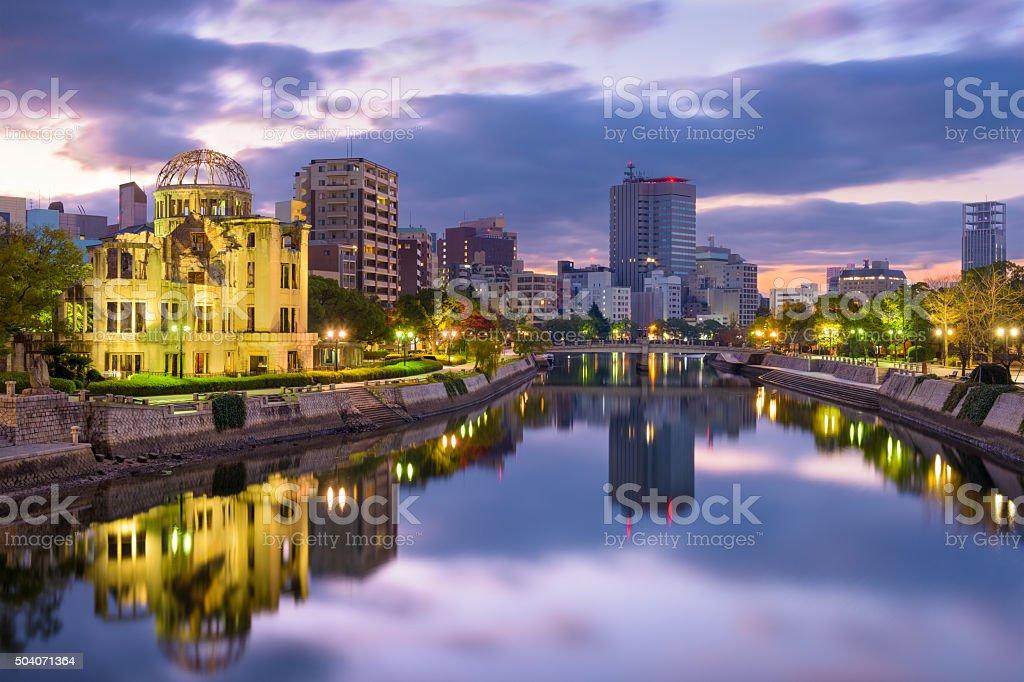 Hiroshima, Japan Skyline stock photo