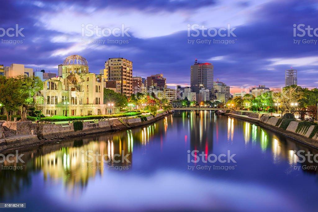 Hiroshima Japan Skyline stock photo