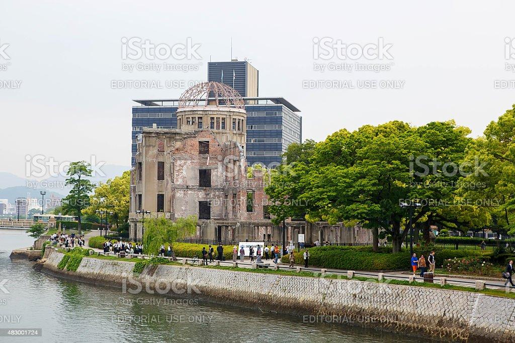 HIROSHIMA, JAPAN - MAY 15, 2015: Hiroshima Peace Memorial stock photo