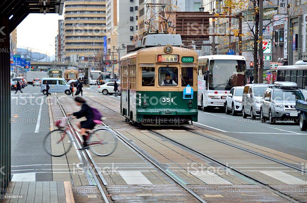 Hiroshima tram stock photo