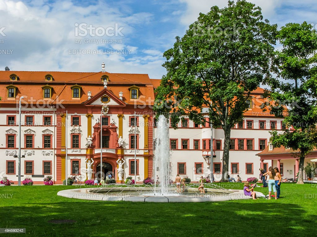 Hirsch Park and Former Governors Residence in Erfurt, Germany stock photo