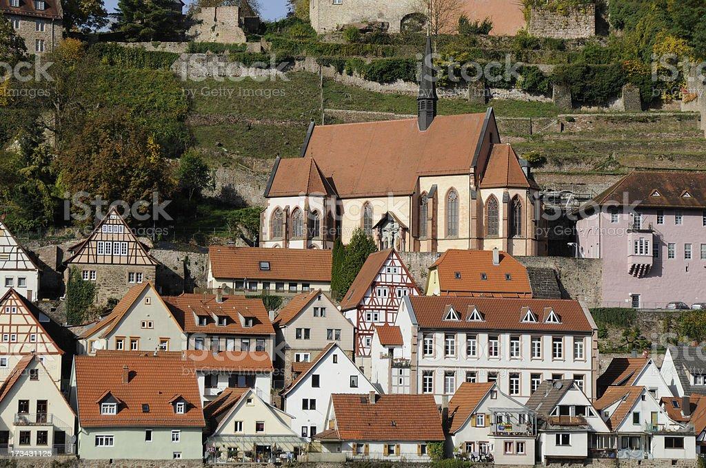 Hirschhorn, Germany royalty-free stock photo