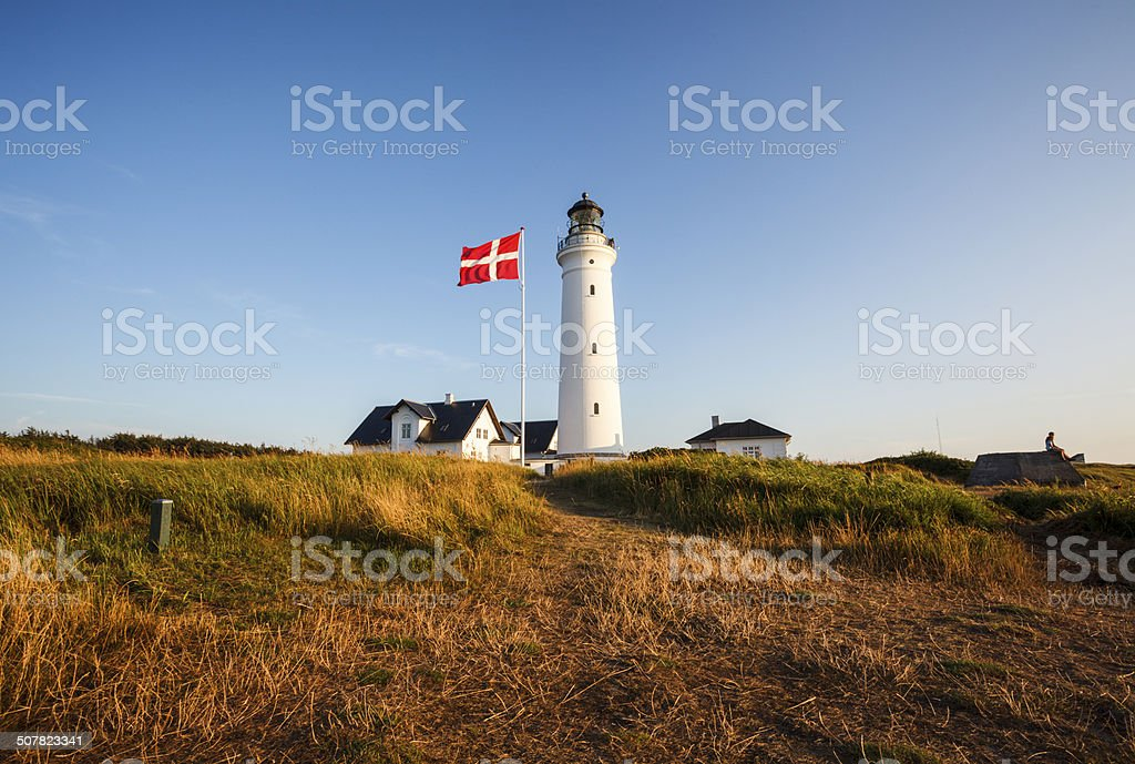 Hirtshals lighthouse stock photo