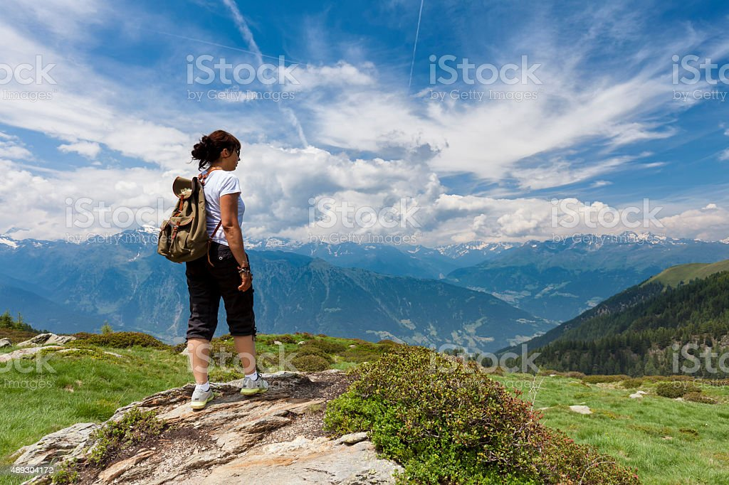 Hirzer Hochplateau im Passeiertal, Südtirol stock photo