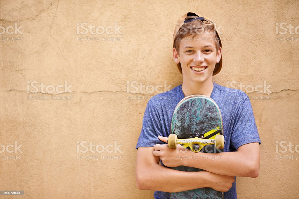 His after-school hobby stock photo