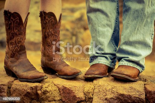 His And Hers Cowboy Boots stock photo 492966003 | iStock