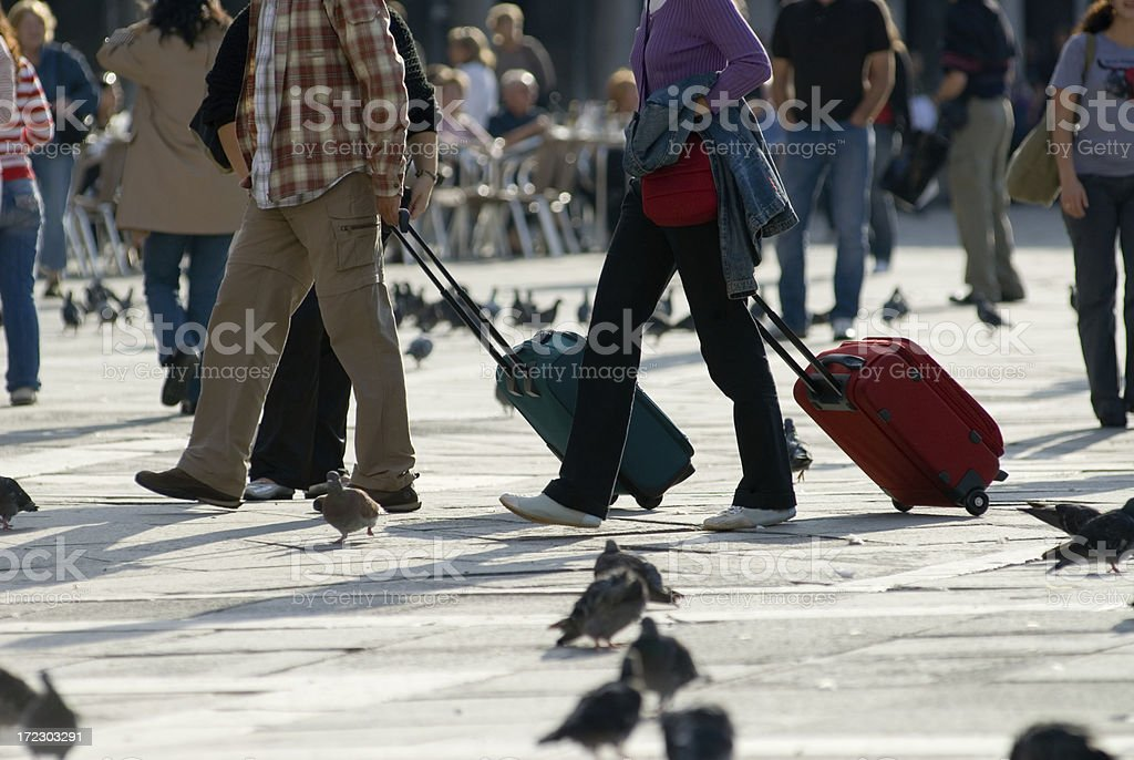 His and Hers Luggage royalty-free stock photo