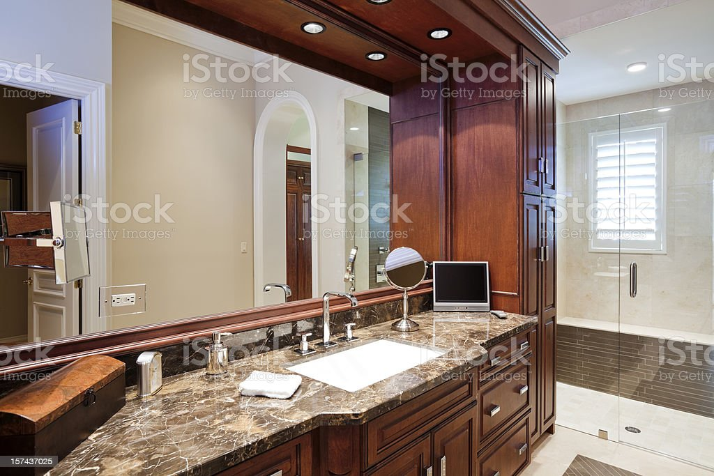 His Bathroom royalty-free stock photo