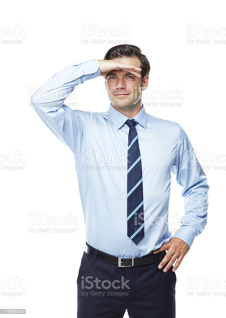 His business future is bright stock photo