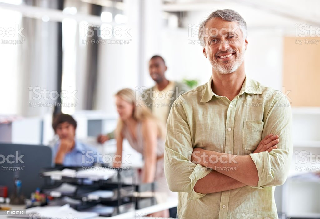 His business ideas are groundbreaking! stock photo