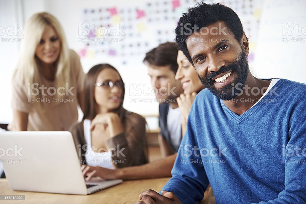 His business ideas are well-respected royalty-free stock photo