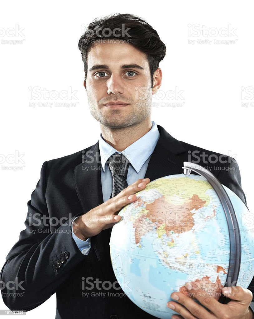 His business looks after the planet royalty-free stock photo