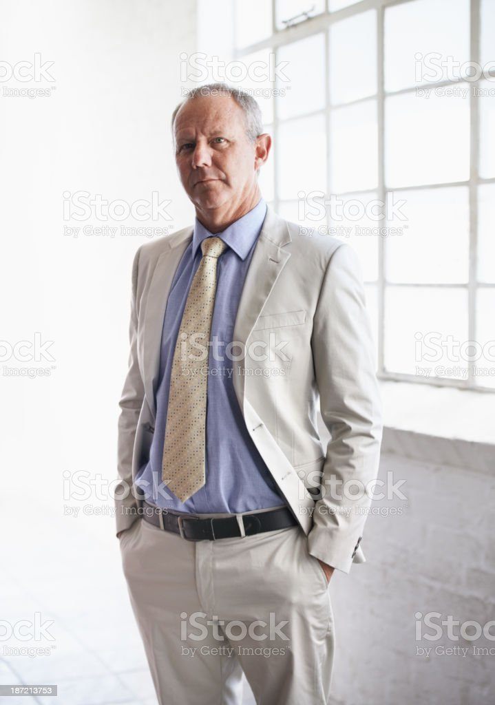 His business skills are second to none royalty-free stock photo
