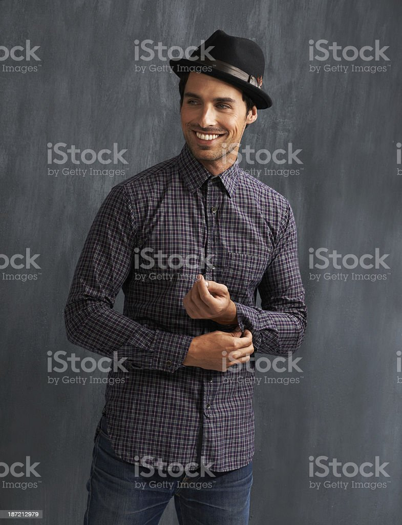 His clothes always fit just right royalty-free stock photo