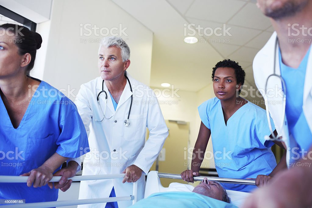 His condition is critical! royalty-free stock photo