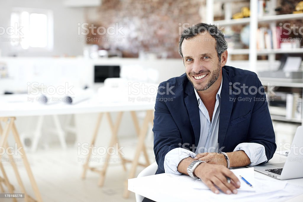 His creativity is a great asset stock photo
