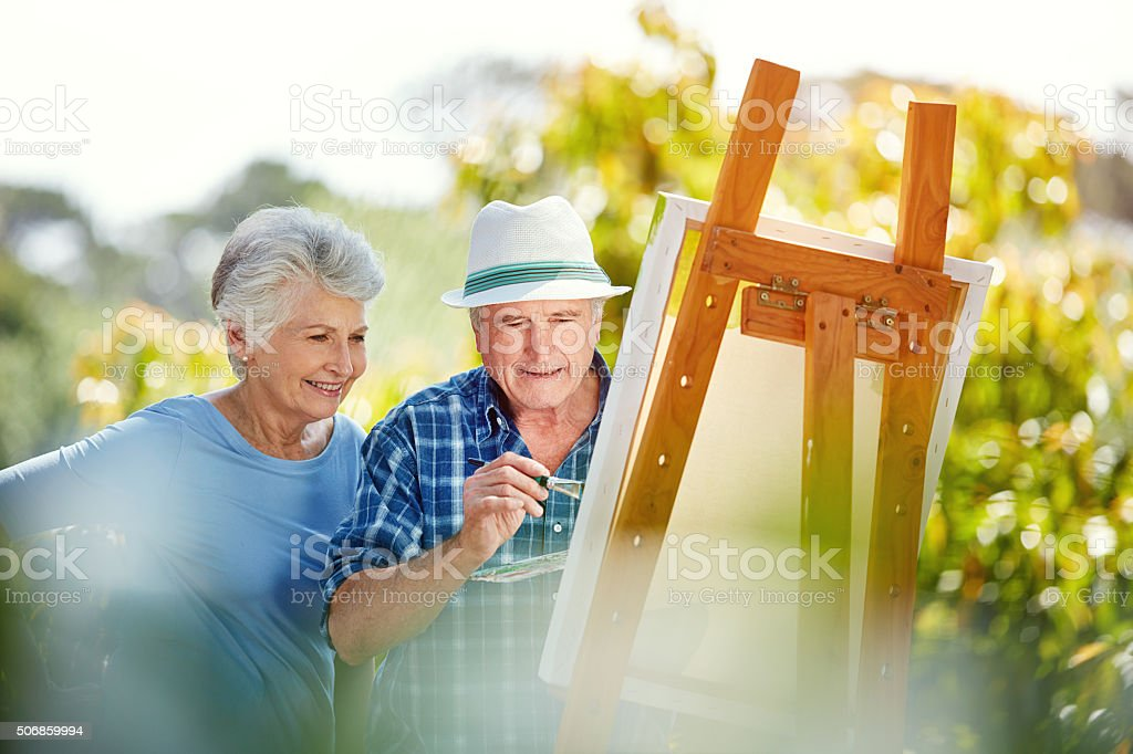 His creativity is what she fell in love with stock photo